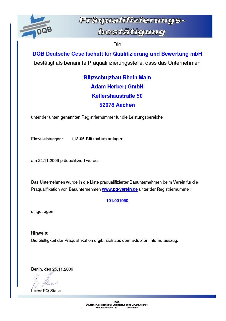 Bauunternehmen Aachen auszeichnungen blitzschutzbau rhein